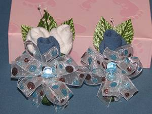 Baby Sock Corsages
