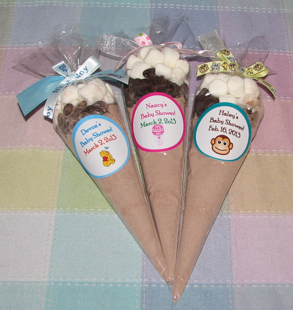 Baby Washcloth Lollipops ♥ Washcloth Candy ♥ Baby Shower Favors