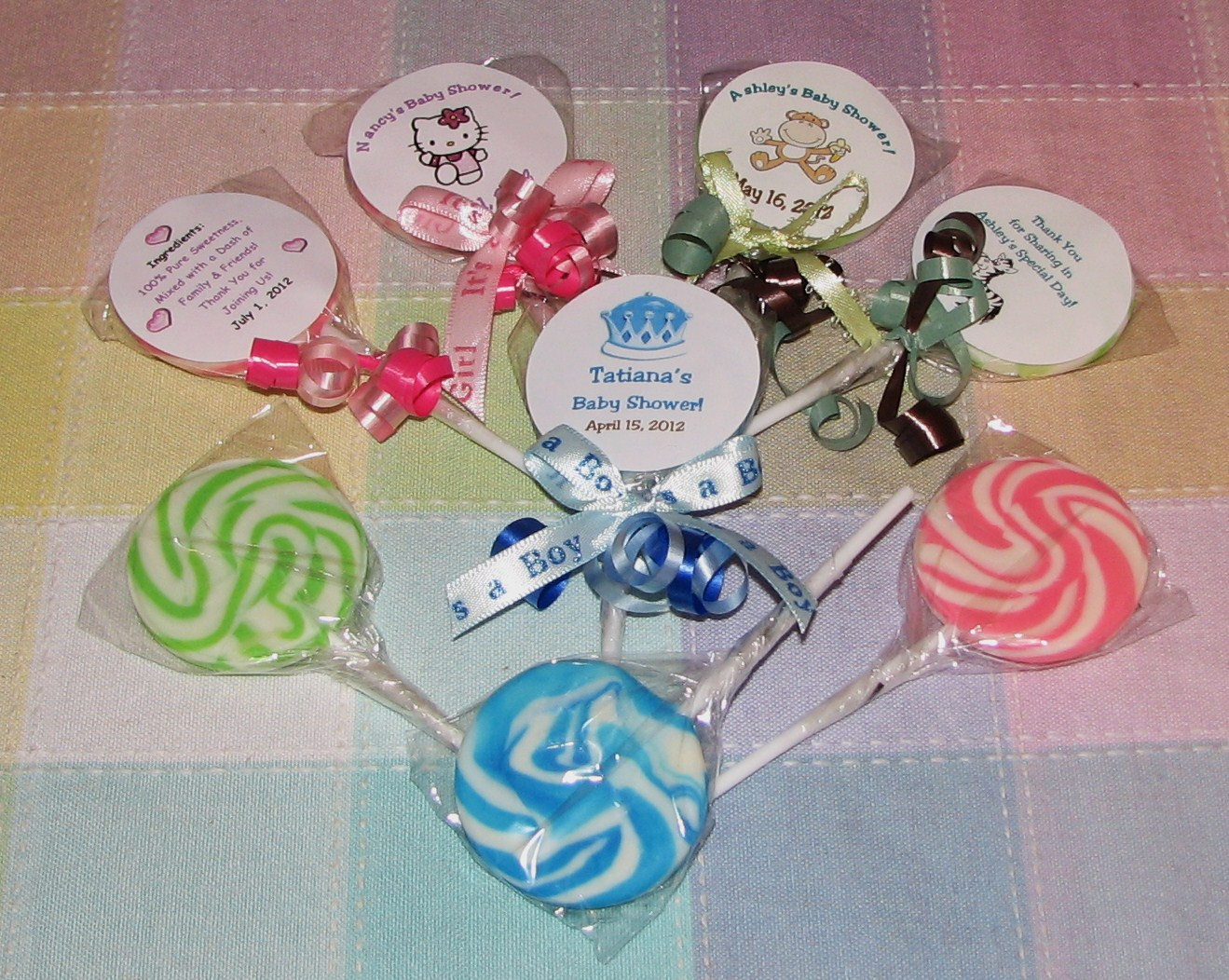 baby shower favors personalized baby shower themed chocolate lollipops