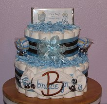 Embroidered Diaper Cakes