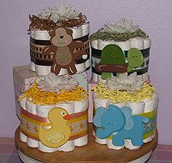 Safari Themed Diaper Cupcakes