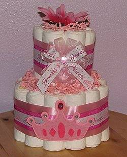 Diaper Cake Table Centerpiece