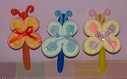 Washcloth Lollipop Butterfly Favors