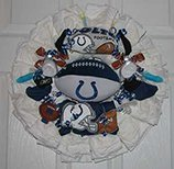 Dallas Cowboys Diaper Wreath