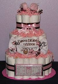 Dakota Embroidered Diaper Cake