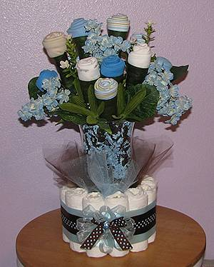 Floral Diaper Bouquet