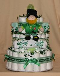 Kiss Me I'm Irish! Diaper Cake