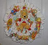 Winnie the Pooh Double Diaper Wreath