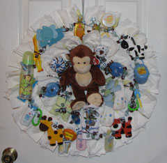 Jungle Safari Diaper Wreath